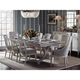 Stanley Preserve 9pc St. Helena Trestle Dining Room Set and Marshall Side Chairs & Maybank Host Chairs
