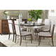 Stanley Fairlane 7pc Dining Room Set with Oval Table and Upholstered Host Chairs in Luna