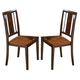 New Classic Latitudes Vertical Back Chair in Wood Seat in Two Tone (Set of 2) 40-150-21T