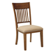 Shallibay Upholstered Side Chair in Medium Brown (Set of 2) D586-01