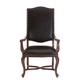 Bernhardt Eaton Square Leather-Upholstered Arm Chair (Set of 2) in Harvest Brown 352-542L