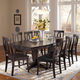 John Thomas Furniture Cosmopolitan 9 Piece Milano Double Butterfly Extension Dining Set in Dark Walnut