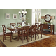 John Thomas Furniture Cosmopolitan 9 Piece Milano Double Butterfly Extension Dining Set in Espresso