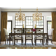 Universal Furniture California 9pc Dining Room Set w/ Upholstered Arm Chairs in Hollywood Hills