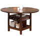 Crown Mark Conner Counter Height Table in Medium Brown 2859T-6060