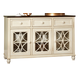 John Thomas Furniture Camden Buffet in Eggshell/Walnut B90-5218C