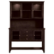John Thomas Furniture Cosmopolitan Server with Hutch in Dark Walnut SVH34-34 CLEARANCE