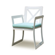 Skyline Design Lyon Dining Arm Chair in White Matte (Set of 2) 22604