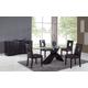 Global Furniture DG018 5-Piece Dining Room Set in Brown