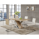 Global Furniture D2122DT & D2123DC 7-Piece Dining Room Set in Sonoma/White