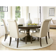 Universal Furniture California 7pc Round Dining Room Set w/ Upholstered Side Chairs in Hollywod Hills