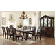 Crown Mark Kiera 7pc Double Pedestal Dining Set in Rich Brown