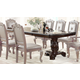 Crown Mark Kiera Double Pedestal Dining Table in Rich Brown 2150T-44108TL
