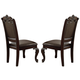 Crown Mark Kiera Dining Side Chair in Rich Brown (Set of 2) 2150S
