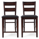 Crown Mark Maldives Counter Height Chair in Brown (Set of 2) 2760S-24