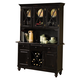 Intercon Furniture Roanoke Buffet with Hutch in Black
