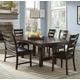 Intercon Furniture Kona 7-Piece Trestle Dining Set in Raisin