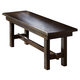 Intercon Furniture Kona Backless Dining Bench in Raisin