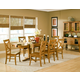 John Thomas Furniture Cosmopolitan 9 Piece Milano Double Butterfly Extension Dining Set in Aged Cherry