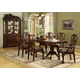 Crown Mark Brussels 7pc Double Pedestal Dining Set in Luscious Brown