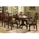 Crown Mark Brussels Double Pedestal Dining Table in Luscious Brown 2470T-4296