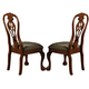 Crown Mark Brussels Dining Side Chair in Luscious Brown (Set of 2) 2471S