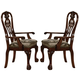 Crown Mark Brussels Dining Arm Chair in Luscious Brown (Set of 2) 2471A