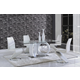 Global Furniture D9002 7-Piece Dining Room Set in White