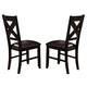 Crown Mark Havana Side Chair in Dark Brown 2335S