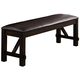 Crown Mark Havana Upholstered Bench in Dark Brown 2335-BENCH