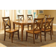 John Thomas Furniture Cosmopolitan 7 Piece Salerno Butterfly Extension Dining Set in Aged Cherry/ Espresso