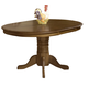Intercon Furniture Classic Oak Pedestal Dining Table in Burnished Rustic