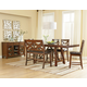 Standard Furniture Omaha 6-Piece Counter Height Table Set in Saddle Brown