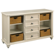Hammary Camden-Light 4-Drawer Console Table in White 920-925