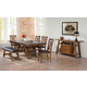 Acme Furniture Nevan 6 Piece Rectangular Dining Set in Oak