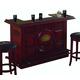 ECI Furniture Guinness Raised Panel Bar and in Distressed Walnut 1235-35-PTPB