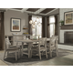 Cresent Fine Furniture Corliss Landing 7-Piece Trestle Dining Set in Driftwood