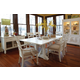 Klaussner Sea Breeze 7-Piece Rectangular Trestle Dining Set in White