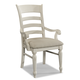 Klaussner Sea Breeze Ladderback Arm Chair in White 424-906 (Set of 2)
