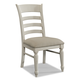 Klaussner Sea Breeze Ladderback Side Chair in White 424-901 (Set of 2)