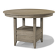 Cresent Fine Furniture Corliss Landing Gathering Table in Weathered Driftwood Grey