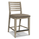 Cresent Fine Furniture Corliss Landing Counter Stool in Weathered Driftwood Grey (Set of 2) 5668
