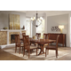 A-America Grant Park 7-Piece Trestle Dining Set in Pecan