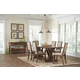 Coaster Bridgeport 7-Piece Dining Room Set in Weathered Acacia