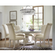 Universal Furniture California 7pc Round Dining Room Set w/ Upholstered Side Chairs in Malibu