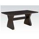 Acme Furniture Effie Rectangular Dining Table in Espresso 71515