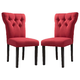 Acme Furniture Effie Side Chair in Red (Set of 2) 71521
