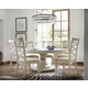 Universal Furniture California 7pc Round Dining Room Set w/ X-Back Side Chairs in Malibu