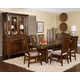 Broyhill Estes Park 7Pc Rectangular Trestle Dining Set in Dark Oak