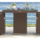 Skyline Design Pacific Square Dining Table in JB Chocolate 2373